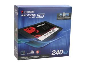 "Kingston SSDNow KC100 Series 2.5"" 240GB SATA III Internal Solid State Drive (SSD)  (upgrade bundle kit) SKC100S3B/240G"