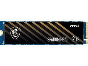 MSI SPATIUM Series M.2 2280 2TB PCIe Gen3 x4, NVMe 1.3 3D NAND Internal Solid State Drive (SSD) M370