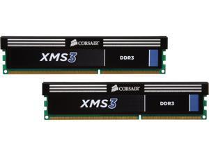 CORSAIR XMS3 4GB (2 x 2GB) 240-Pin DDR3 SDRAM DDR3 1600 (PC3 12800) Desktop Memory Model CMX4GX3M2A1600C9