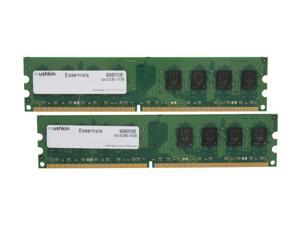 Mushkin Enhanced Essentials 4GB (2 x 2GB) 240-Pin DDR2 SDRAM DDR2 800 (PC2 6400) Dual Channel Kit Desktop Memory Model 996558
