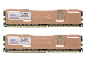 OCZ 512MB (2 x 256MB) 184-Pin DDR SDRAM DDR 400 (PC 3200) Dual Channel Kit Desktop Memory Model OCZ400512ELDCK