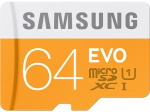 Samsung 64GB EVO microSDXC UHS-I/U1 Class 10 Memory Card with Adapter, Speed Up to 48MB/s (MB-MP64DA/AM) [Old Speed]