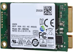 SAMSUNG 850 EVO mSATA 250GB SATA III 3D NAND Internal SSD Single Unit Version MZ-M5E250BW
