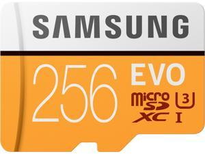 Samsung 256GB EVO microSDXC UHS-I/U3 Memory Card with Adapter, Speed Up to 100MB/s (MB-MP256GA/AM)