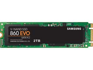 SAMSUNG 860 EVO Series M.2 2280 2TB SATA III 3D NAND Internal Solid State Drive (SSD) MZ-N6E2T0BW