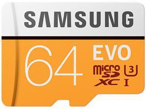 SAMSUNG EVO 64GB microSDXC Flash Card + Adapter Model MB-MP64HA/AM