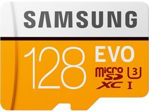 SAMSUNG EVO 128GB microSDXC Flash Card + Adapter Model MB-MP128HA/AM
