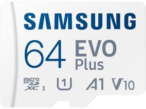 SAMSUNG EVO Plus 64GB microSDXC Flash Card w/ Adapter Model MB-MC64KA/AM