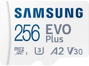 SAMSUNG EVO Plus 256GB microSDXC Flash Card w/ Adapter Model MB-MC256KA/AM