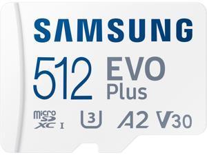 SAMSUNG EVO Plus 512GB microSDXC Flash Card w/ Adapter Model MB-MC512KA/AM