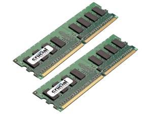 Crucial 4GB (2 x 2GB) 240-Pin DDR2 SDRAM DDR2 800 (PC2 6400) Dual Channel Kit Desktop Memory Model CT2KT25664AA800