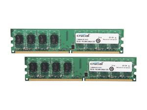 Crucial 4GB (2 x 2GB) 240-Pin DDR2 SDRAM DDR2 1066 (PC2 8500) Micron Chipset Dual Channel Kit Desktop Memory Model CT2KIT25664AA1067