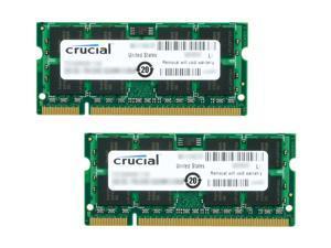 Crucial 8GB (2 x 4GB) 200-Pin DDR2 SO-DIMM DDR2 667 (PC2 5300) Laptop Memory Model CT2KIT51264AC667