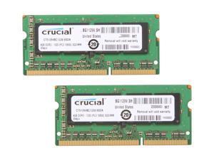 Crucial 8GB (2 x 4GB) 204-Pin DDR3 SO-DIMM DDR3 1333 (PC3 10600) Laptop Memory Model CT2KIT51264BC1339