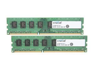 Crucial 8GB (2 x 4GB) 240-Pin DDR3 SDRAM DDR3 1333 (PC3 10600) Micron Chipset Desktop Memory Model CT2KIT51264BA1339