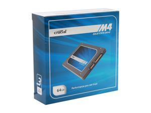 "Crucial M4 CT064M4SSD2CCA 2.5"" 64GB SATA III MLC Internal Solid State Drive (SSD) with Transfer Kit"