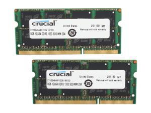 Crucial 16GB (2 x 8GB) 204-Pin DDR3 SO-DIMM DDR3L 1333 (PC3L 10600) Laptop Memory Model CT2KIT102464BF1339