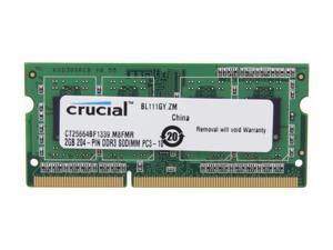 Crucial 2GB 204-Pin DDR3 SO-DIMM DDR3L 1333 (PC3L 10600) Laptop Memory Model CT25664BF1339