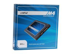 """Crucial M4 2.5"""" 64GB SATA III MLC 7mm Internal Solid State Drive (SSD) CT064M4SSD1"""