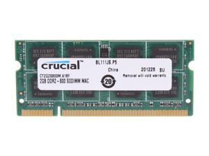 Crucial 2GB DDR2 800 (PC2 6400) Memory for Apple Model CT2G2S800M