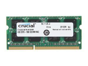 Crucial 4GB DDR3 1066 (PC3 8500) Unbuffered Memory for Mac Model CT4G3S1067M