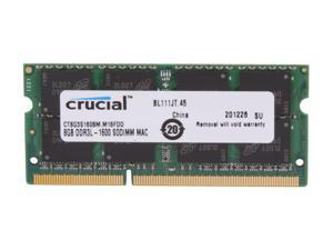 Crucial 8GB DDR3 1600 (PC3 12800) Memory for Apple Model CT8G3S160BM