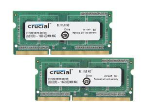 Crucial 4GB (2 x 2GB) DDR3 1066 (PC3 8500) Unbuffered Memory for Apple Model CT2K2G3S1067M