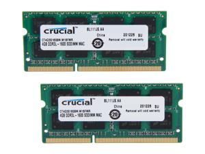 Crucial 8GB (2 x 4GB) DDR3 1600 (PC3 12800) Memory for Apple Model CT2K4G3S160BM