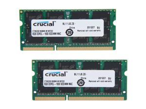 Crucial 16GB (2 x 8GB) DDR3 1600 (PC3 12800) Unbuffered Memory for Mac Model CT2K8G3S160BM