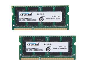 Crucial 16GB (2 x 8GB) DDR3L 1600 (PC3L 12800) Unbuffered Memory for Mac Model CT2K8G3S160BM