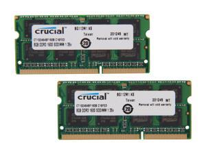 Crucial 16GB (2 x 8GB) 204-Pin DDR3 SO-DIMM DDR3L 1600 (PC3L 12800) Laptop Memory Model CT2KIT102464BF160B