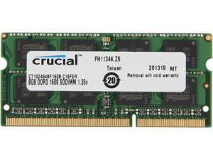 Crucial 8GB 204-Pin DDR3 SO-DIMM DDR3L 1600 (PC3L 12800) Laptop Memory Model CT102464BF160B