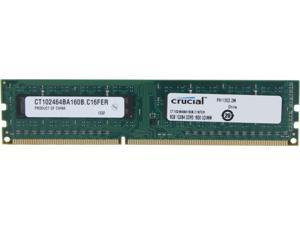 Crucial 8GB 240-Pin DDR3 SDRAM DDR3 1600 (PC3 12800) Desktop Memory Model CT102464BA160B