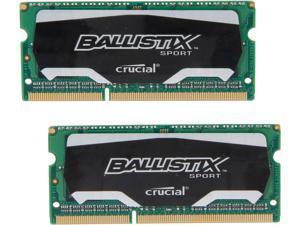 Ballistix Sport SODIMM 8GB (2 x 4GB) 204-Pin DDR3 SO-DIMM DDR3L 1600 (PC3L 12800) Laptop Memory Model BLS2K4G3N169ES4