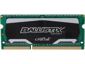 Crucial Ballistix Sport SODIMM 8GB 204-Pin DDR3 SO-DIMM DDR3L 1600 (PC3L 12800) Laptop Memory Model BLS8G3N169ES4