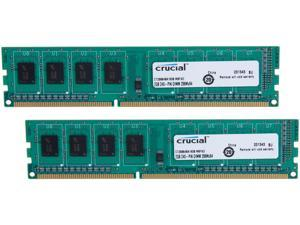 Crucial 4GB (2 x 2GB) 240-Pin DDR3 SDRAM DDR3 1600 (PC3 12800) Major Brand Chipset Desktop Memory Model CT2KIT25664BA160B