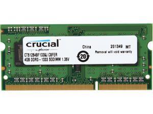 Crucial 4GB 204-Pin DDR3 SO-DIMM DDR3L 1600 (PC3L 12800) Laptop Memory Model CT51264BF1339