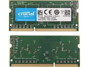 Crucial 4GB (2 x 2GB) 204-Pin DDR3 SO-DIMM DDR3 1600 (PC3 12800) Memory Model CT2KIT25664BF160BJ