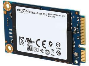 Crucial MX200 mSATA 250GB SATA 6Gbps (SATA III) Micron 16nm MLC NAND Internal Solid State Drive (SSD) CT250MX200SSD3