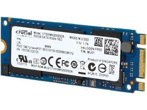 Crucial MX200 M.2 Type 2260DS (Double Sided) 500GB SATA 6Gbps (SATA III) Micron 16nm MLC NAND Internal Solid State Drive (SSD) CT500MX200SSD6