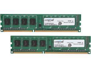 Crucial 8GB (2 x 4GB) 240-Pin DDR3 SDRAM DDR3L 1600 (PC3L 12800) Micron Chipset High Density Desktop Memory Model CT2K51264BD160BJ