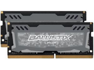 Ballistix Sport LT 8GB Kit (4GBx2) DDR4 2400 MT/s (PC4-19200) SODIMM 260-Pin Memory - BLS2K4G4S240FSD