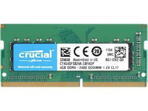 Crucial 4GB Single DDR4 2400 (PC4 19200) 260-Pin SODIMM Memory - CT4G4SFS824A