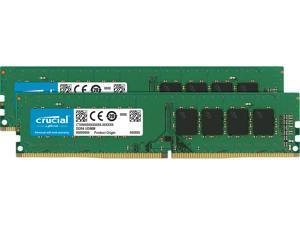Crucial 16GB (2 x 8GB) DDR4 2666MHz DRAM (Desktop Memory) CL19 1.2V SR DIMM (288-pin) CT2K8G4DFS8266
