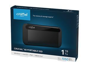 Crucial X8 1TB Portable SSD - Up to 1050 MB/s - USB 3.2 - External Solid State Drive, USB-C, USB-A - CT1000X8SSD9