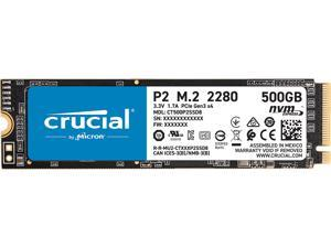 Crucial P2 500GB 3D NAND NVMe PCIe M.2 SSD Up to 2300 MB/s - CT500P2SSD8