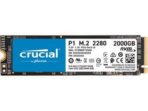 Crucial P1 2TB 3D NAND NVMe PCIe Internal SSD, up to 2000 MB/s - CT2000P1SSD8