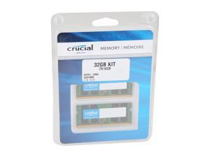 Crucial 32GB (2 x 16GB) 260-Pin DDR4 SO-DIMM DDR4 2666 (PC4 21300) Laptop Memory Model CT2K16G4SFRA266