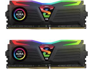 GeIL SUPER LUCE RGB SYNC AMD Edition 16GB (2 x 8GB) 288-Pin DDR4 SDRAM DDR4 3200 (PC4 25600) Intel XMP 2.0 Desktop Memory Model GALS416GB3200C16ADC