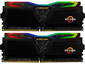 GeIL SUPER LUCE RGB SYNC AMD Edition 16GB (2 x 8GB) 288-Pin DDR4 SDRAM DDR4 3200 (PC4 25600) Intel XMP 2.0 Desktop Memory - TUF Gaming Alliance Model GALTS416GB3200C16ADC